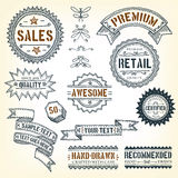 Hand Drawn Banners, Awards And Frames stock illustration