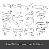 Hand drawn banners set Stock Image