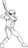 Hand drawn baseball player Stock Photo
