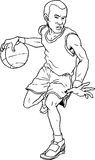 Hand drawn basketball boy Stock Image