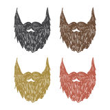 Hand drawn beard Royalty Free Stock Image