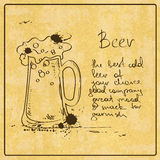 Hand drawn Beer Royalty Free Stock Image