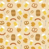 Hand drawn beer seamless pattern Royalty Free Stock Images