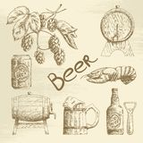 Hand drawn beer sketch Stock Photo