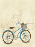 Hand drawn bicycle. Vector picture with hand drawn bicycle royalty free illustration