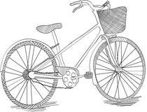 Hand drawn bicycle Stock Image