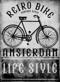 Hand drawn bicycle in Amsterdam European street sport Stock Photography