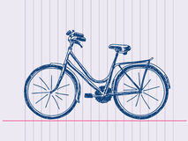 Hand drawn bicycle Stock Image