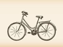 Hand drawn bicycle Royalty Free Stock Image