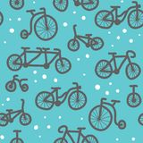Hand drawn bicycle pattern Royalty Free Stock Photos