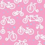 Hand drawn bicycle pattern Royalty Free Stock Photo