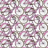Hand drawn bicycle seamless pattern Royalty Free Stock Image