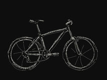 Hand drawn bicycle Royalty Free Stock Images