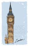 Hand drawn Big Ben Royalty Free Stock Photo
