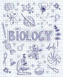 Hand drawn biology set Royalty Free Stock Photo