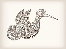 Hand drawn bird Royalty Free Stock Images