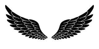 Free Hand Drawn Bird Or Angel Grunge Textured Flapping Wings. Hand Drawn Wings Silhouette For T-shirt Prints, Tatoo Design Royalty Free Stock Photos - 167188088