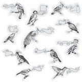 Hand drawn Birds with Signs Royalty Free Stock Photos