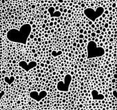 Hand drawn black brush circles and dots seamless pattern, vector illustration Royalty Free Stock Photo