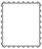Hand drawn black floral design frame Stock Photo