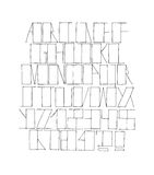 Hand drawn black font, isolated on white background. Vector alphabet, letters sequence from A to Z and numbers. Abc sequence, good Royalty Free Stock Photos