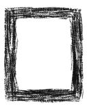 Hand-drawn black grunge frame Stock Photo