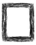 Hand-drawn black grunge frame Stock Photo