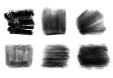 Hand-drawn black pencils strokes royalty free illustration