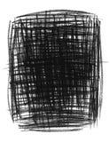 Hand-drawn black primitive background Stock Photography