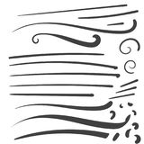 Hand Drawn Black squiggle swoosh text font tail for baseball tsh. Irt design w calligraphy swirl Royalty Free Stock Image