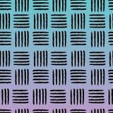 Hand drawn black stripes on gradient background vector illustration