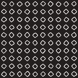 Hand drawn black and white ink abstract seamless pattern. Vector stylish texture. Monochrome geometric shappes paint brush lines Stock Images