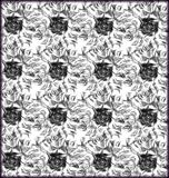 Hand drawn black and white sketchy pattern Stock Image