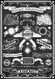 Hand Drawn Blackboard Banner Royalty Free Stock Images