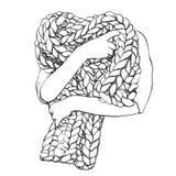 Hand drawn blanket sketch. Royalty Free Stock Image