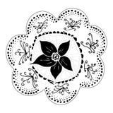 Hand-drawn bloem Stock Fotografie