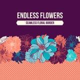 Hand-drawn bloemen van dahlia stock illustratie