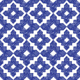 Hand drawn blue and white seamless pattern. Hand drawn highly detailed blue and white seamless pattern Royalty Free Stock Photo