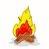 Hand drawn bonfire Stock Photo