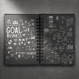 Hand drawn book of goal success business strategy Royalty Free Stock Photos