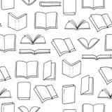 Hand drawn books seamless pattern. Royalty Free Stock Image