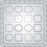 Hand Drawn Borders and Frames. Collection of Hand Drawn Doodle Vintage Borders and Frames. Vector Illustration Royalty Free Stock Image