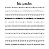 Hand drawn borders. Vector holidays decoration. Cute decor design Stock Photography