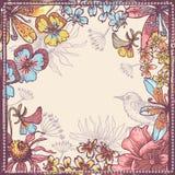 Hand drawn botanical theme frame Stock Images