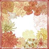 Hand drawn botanical theme frame Royalty Free Stock Photo