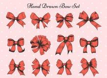 Hand Drawn Bow Set Stock Photo