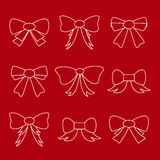 Hand drawn bows. Set of hand drawn bows Royalty Free Stock Photos