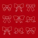 Hand drawn bows. Royalty Free Stock Photos