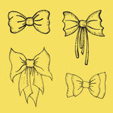 Hand drawn Bows Royalty Free Stock Photo