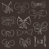 Hand drawn bows Royalty Free Stock Photography
